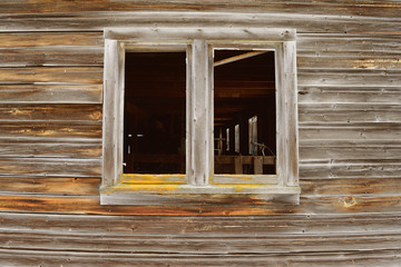 Timeworn Wood and Barn Window Opening