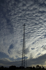 Communications Tower & Clouds, East Tennessee