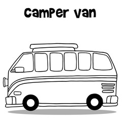 Camper van of vector art
