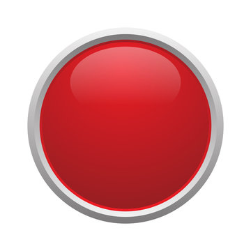 Red button vector isolated