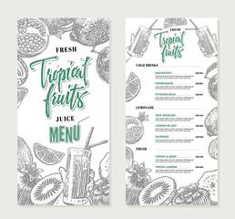Fresh Restaurant Menu Template