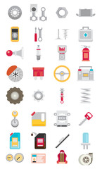 Flat vector icons and illustrations repair of machines