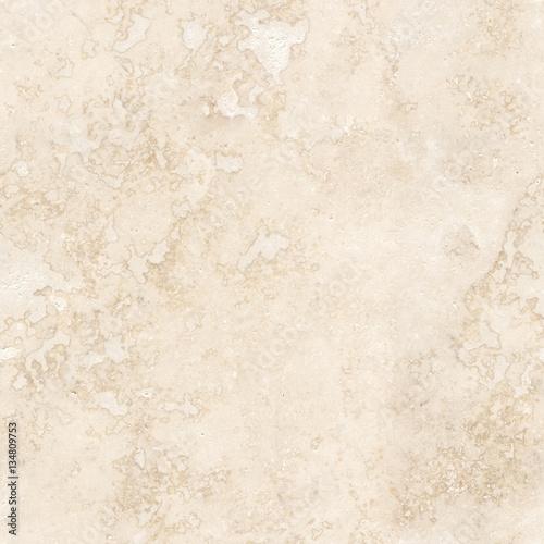 Wall mural Seamless travertine tumble tile marble background. Seamfree marble wallpaper.