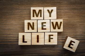 """My New Life"" inscription"