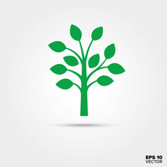 Tree Icon. Environment and Nature Symbol.