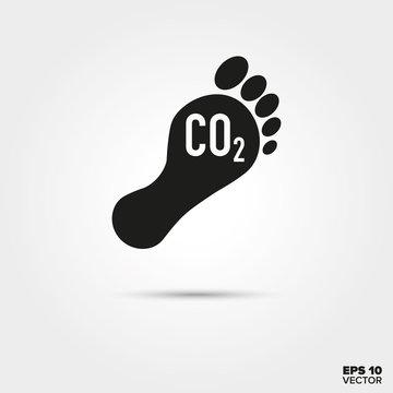 Carbon footprint icon. Pollution Symbol.