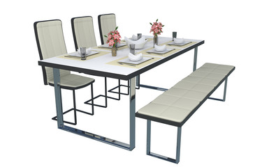 dinner Table with Transparent Background Architecture Visual