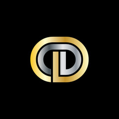 Initial Letter OD CD Linked Design Logo