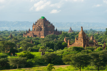 Sulamani temple reconstruction after earthquake, Bagan ancient c