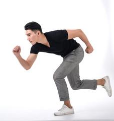 young man run