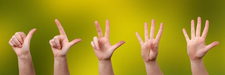 Mit Fingern zählen