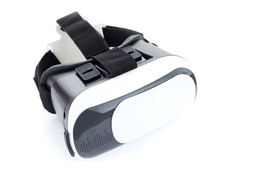 Vr camera mask device on white background