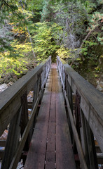 Small bridge at Adirondack Park, New York, USA.