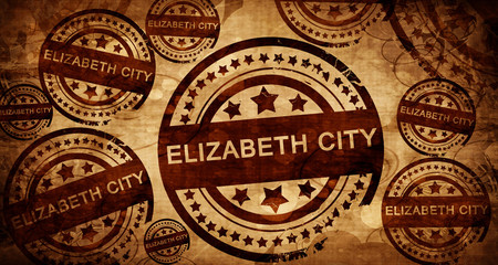 elizabeth city, vintage stamp on paper background
