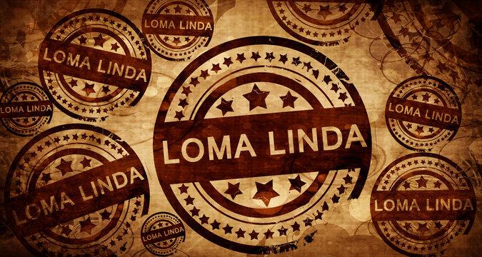 loma linda, vintage stamp on paper background