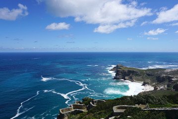 beautiful landscape of the coast at Capepoint in Cape town