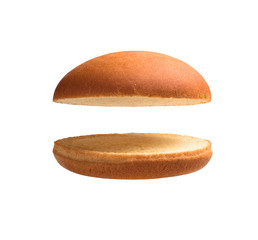 Burger bun empty isolated