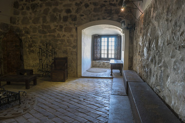 Interior of the medieval castle of the city of Consuegra in Tole