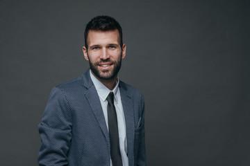 Portrait of handsome businessman.