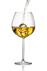 Wall Mural - white wine with ice