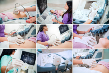 Collage of ultrasound equipment