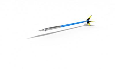 Three-dimensional dart model background study