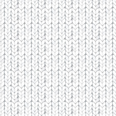 White knitted seamless texture.