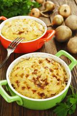 Potato casserole with meat