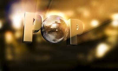 POP Diskokugel Typo Flare Kopie