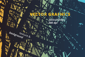 Contemporary urban texture and architectural background with grungy effects and powerful black graphic lines.