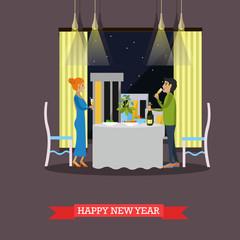 Vector illustration of New Years Eve celebration design element