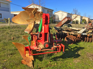 Ancient agricultural machinery