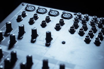 Input plugs on mixer