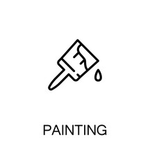 Painting flat icon.