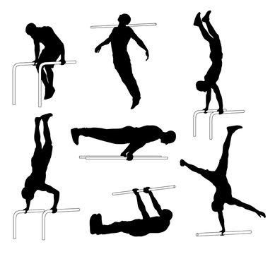 Street workout silhouettes