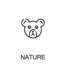Nature flat icon