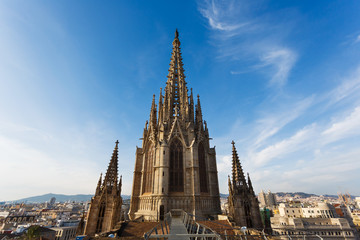 Towers of Gothic Church, Barcelona