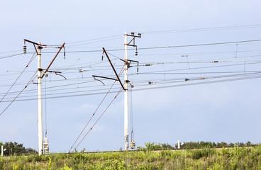 power line, electric pole, electricity