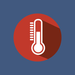 thermometer sign isolated icon vector illustration design