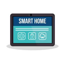 smarthome technology isolated icon vector illustration design