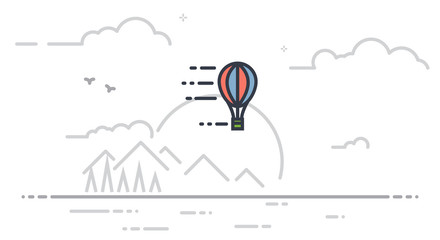 Airballoon line illustration