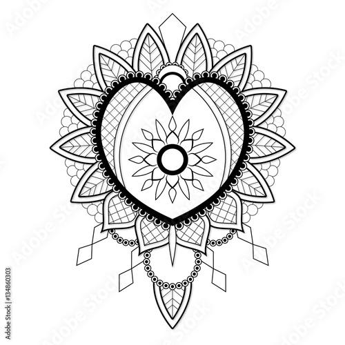 """""""Vector Mandala Heart"""" Stock image and royalty-free vector ..."""
