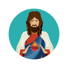 Jesus christ christianity icon vector illustration graphic design