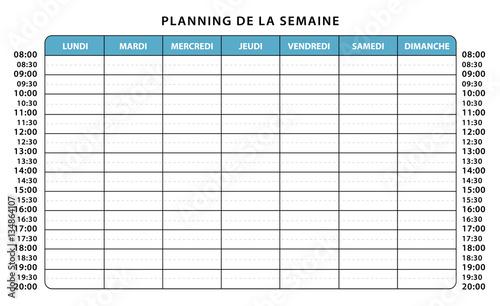 Top Planning professionnel ou scolaire. Emploi du temps semaine  TQ86