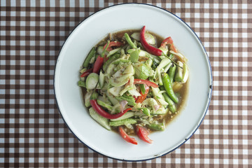 Tam Cucumber on table  food of thailand.
