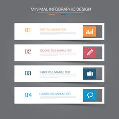 Infographic Elements with business icon on full color background