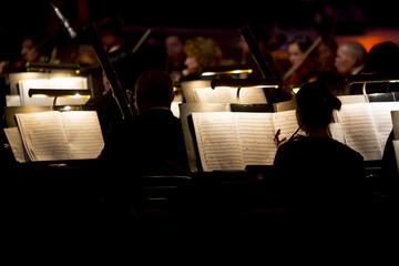 Orchestra symphony dark