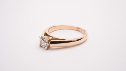 Diamond Engagement Ring Macro Lens Shot