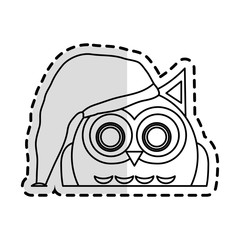 owl cartoon icon over white background. vector illustration