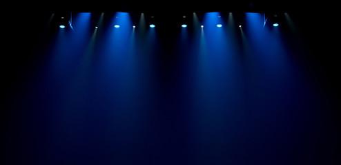 scene, stage light with colored spotlights - fototapety na wymiar